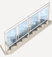 Precio en bolivia de m de barandilla de escalera de for Barandales de aluminio blanco